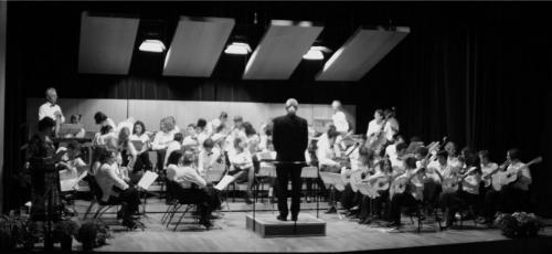 photo orchestre noir et blanc